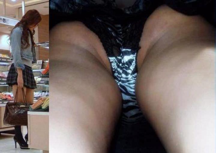 OLや女子大生の私服のスカートの中をパシャリ!!!逆さパンチラのエロさは異常www 2188
