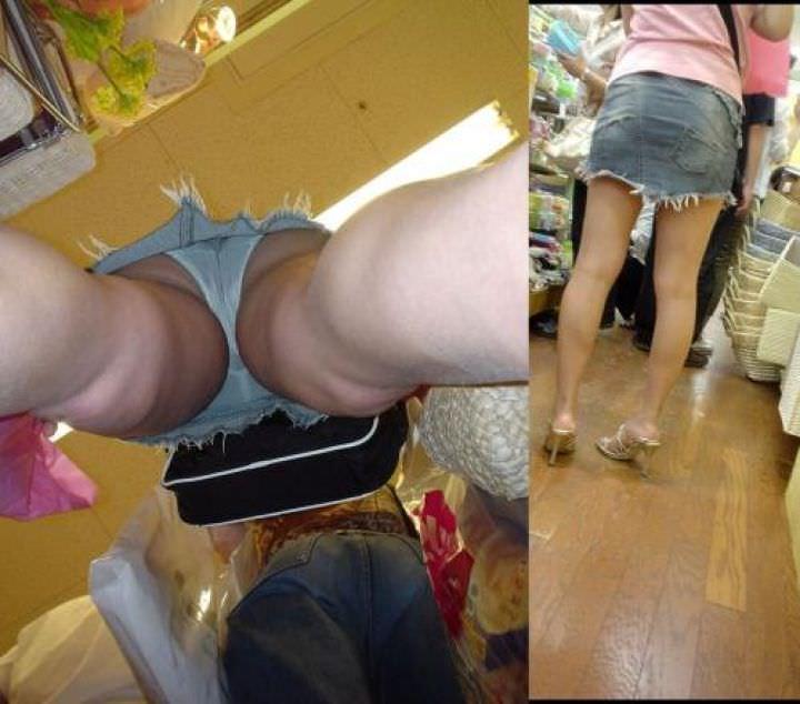 OLや女子大生の私服のスカートの中をパシャリ!!!逆さパンチラのエロさは異常www 2198