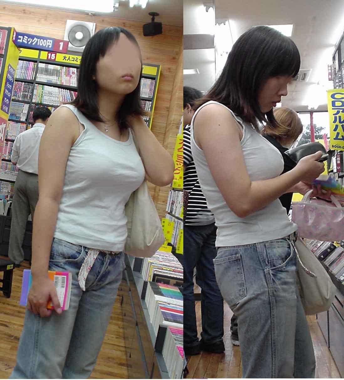 街で出くわした反則級の巨乳着衣おっぱいお姉さんを街撮り!!! 0926