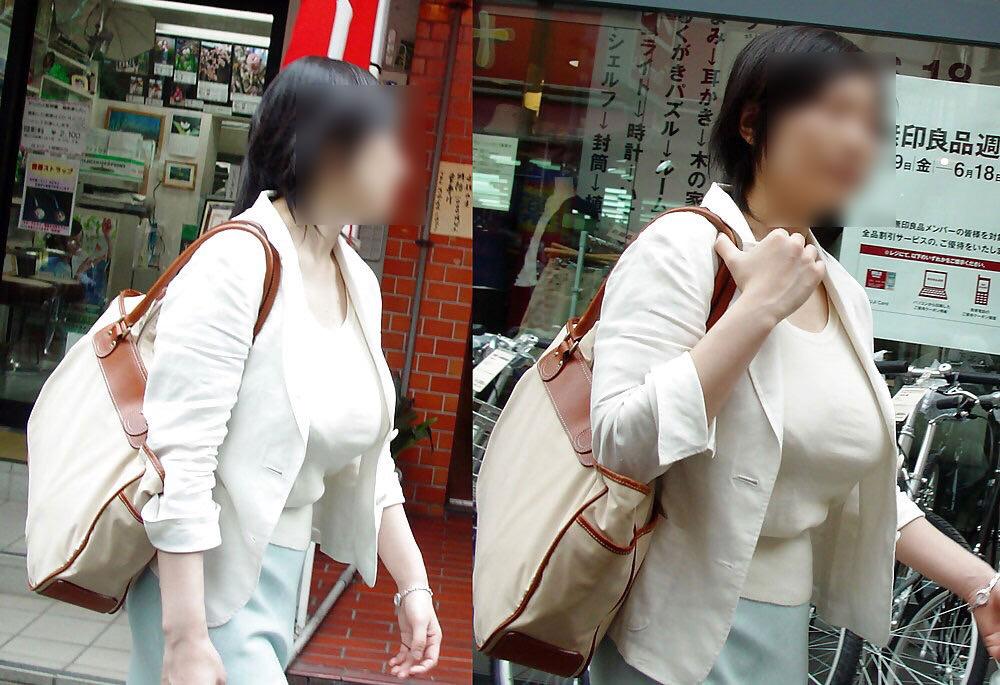 街で出くわした反則級の巨乳着衣おっぱいお姉さんを街撮り!!! 0943