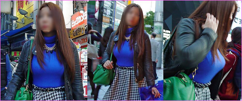 街で出くわした反則級の巨乳着衣おっぱいお姉さんを街撮り!!! 0944