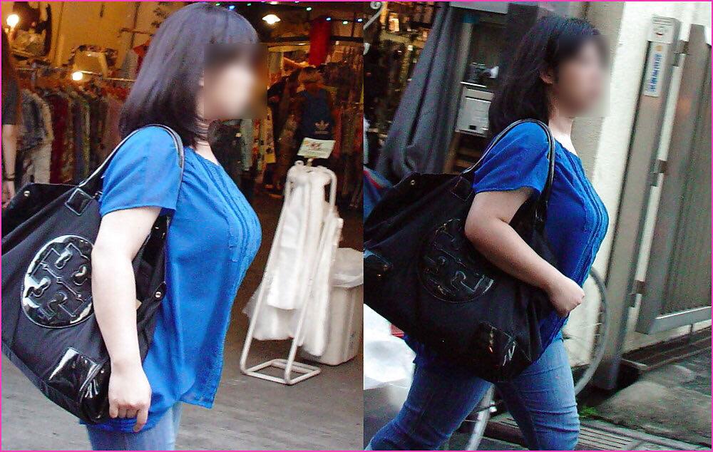 街で出くわした反則級の巨乳着衣おっぱいお姉さんを街撮り!!! 0945
