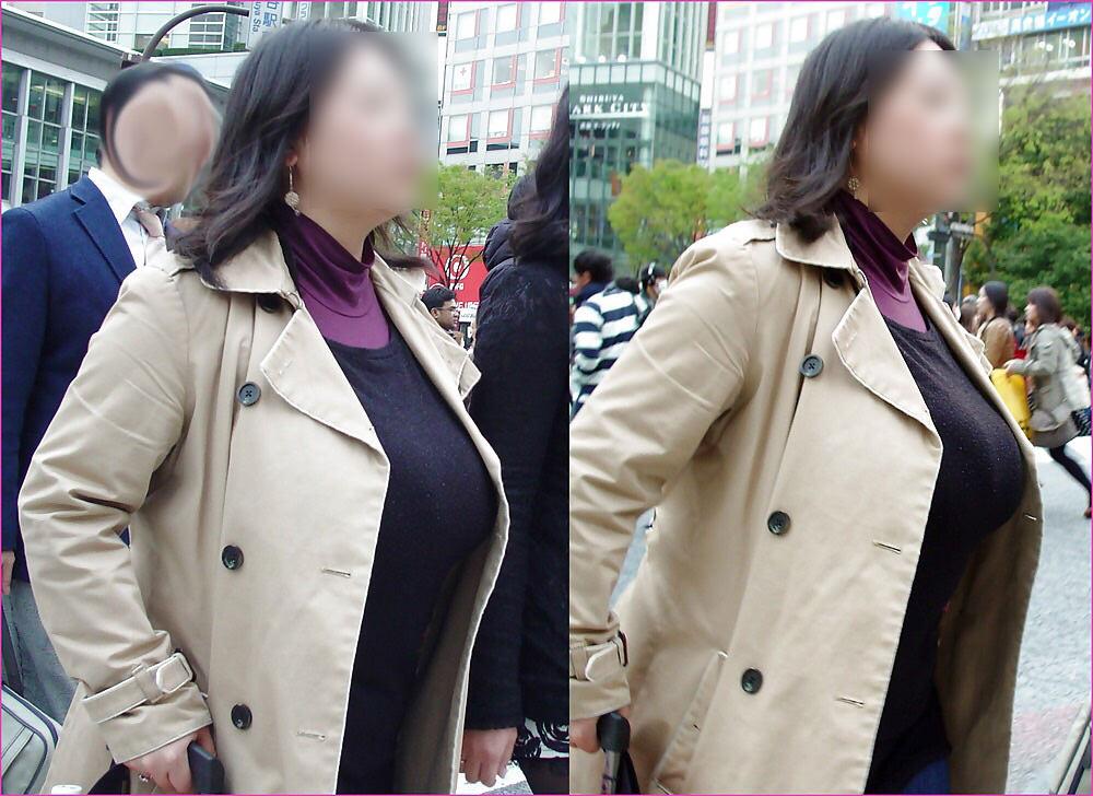 街で出くわした反則級の巨乳着衣おっぱいお姉さんを街撮り!!! 0946