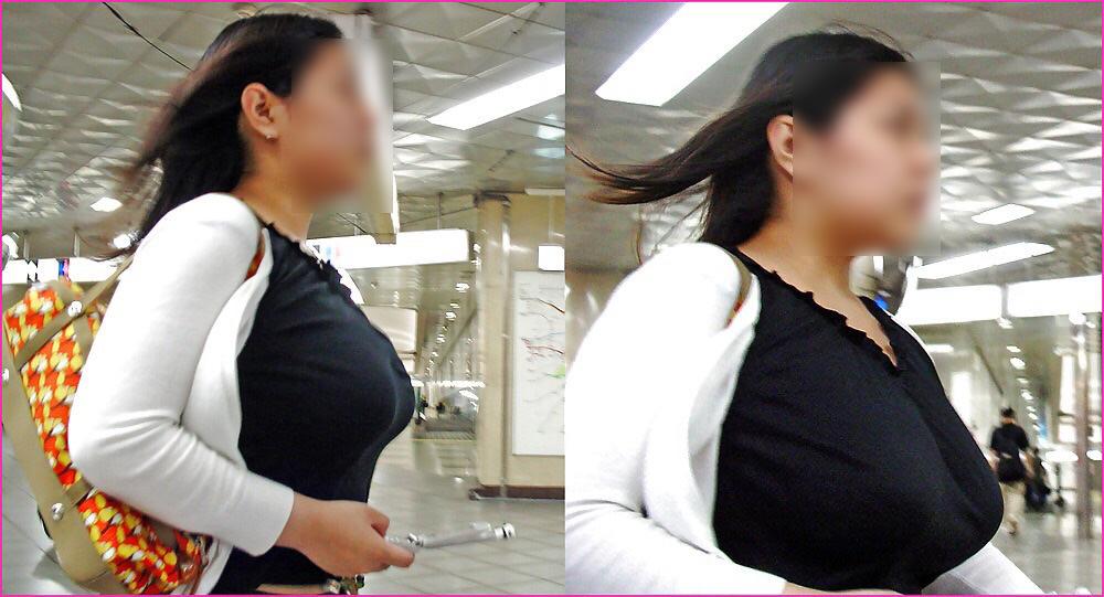 街で出くわした反則級の巨乳着衣おっぱいお姉さんを街撮り!!! 0950