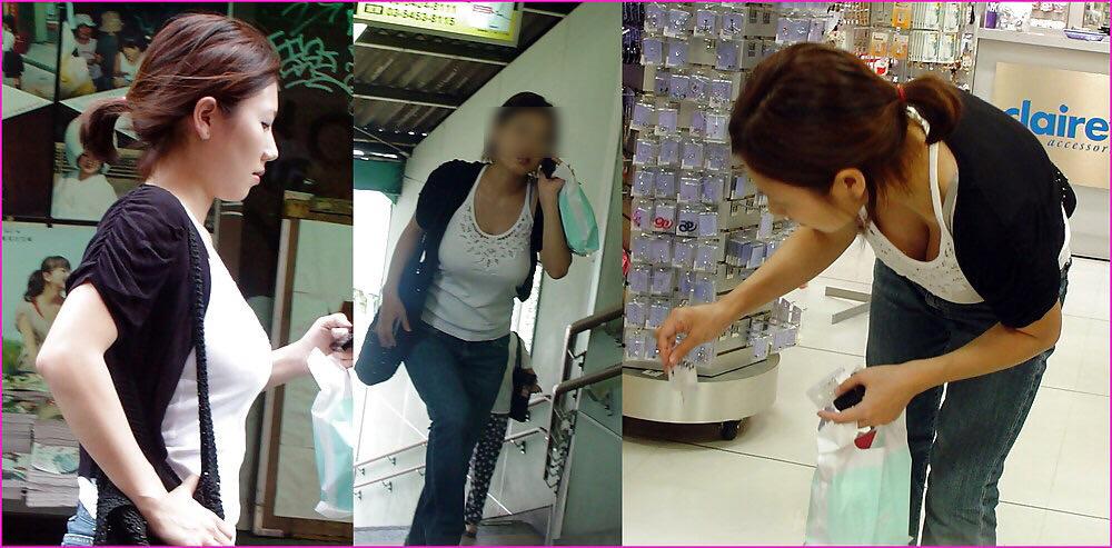 街で出くわした反則級の巨乳着衣おっぱいお姉さんを街撮り!!! 0953