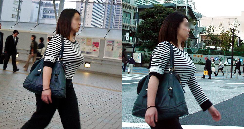 街で出くわした反則級の巨乳着衣おっぱいお姉さんを街撮り!!! 0957