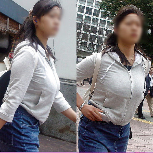 街で出くわした反則級の巨乳着衣おっぱいお姉さんを街撮り!!! 0958