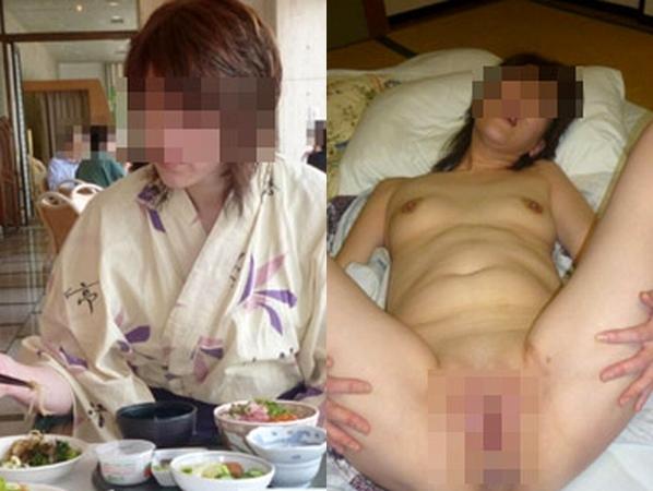 熟女の着衣姿と全裸姿の比較画像に大興奮www清楚な姿からは想像つかないだらしない肉体が大好きwww 01 6
