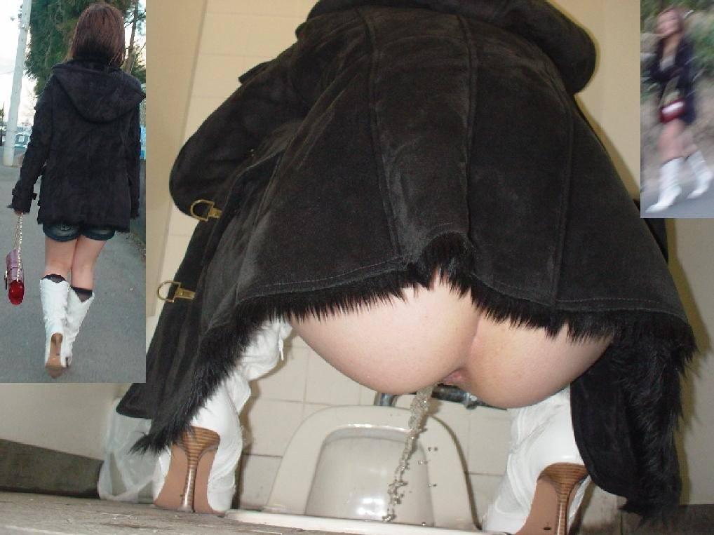 トイレでオシッコしてるお尻丸出し女性を隠し撮りwwwwwww 3082