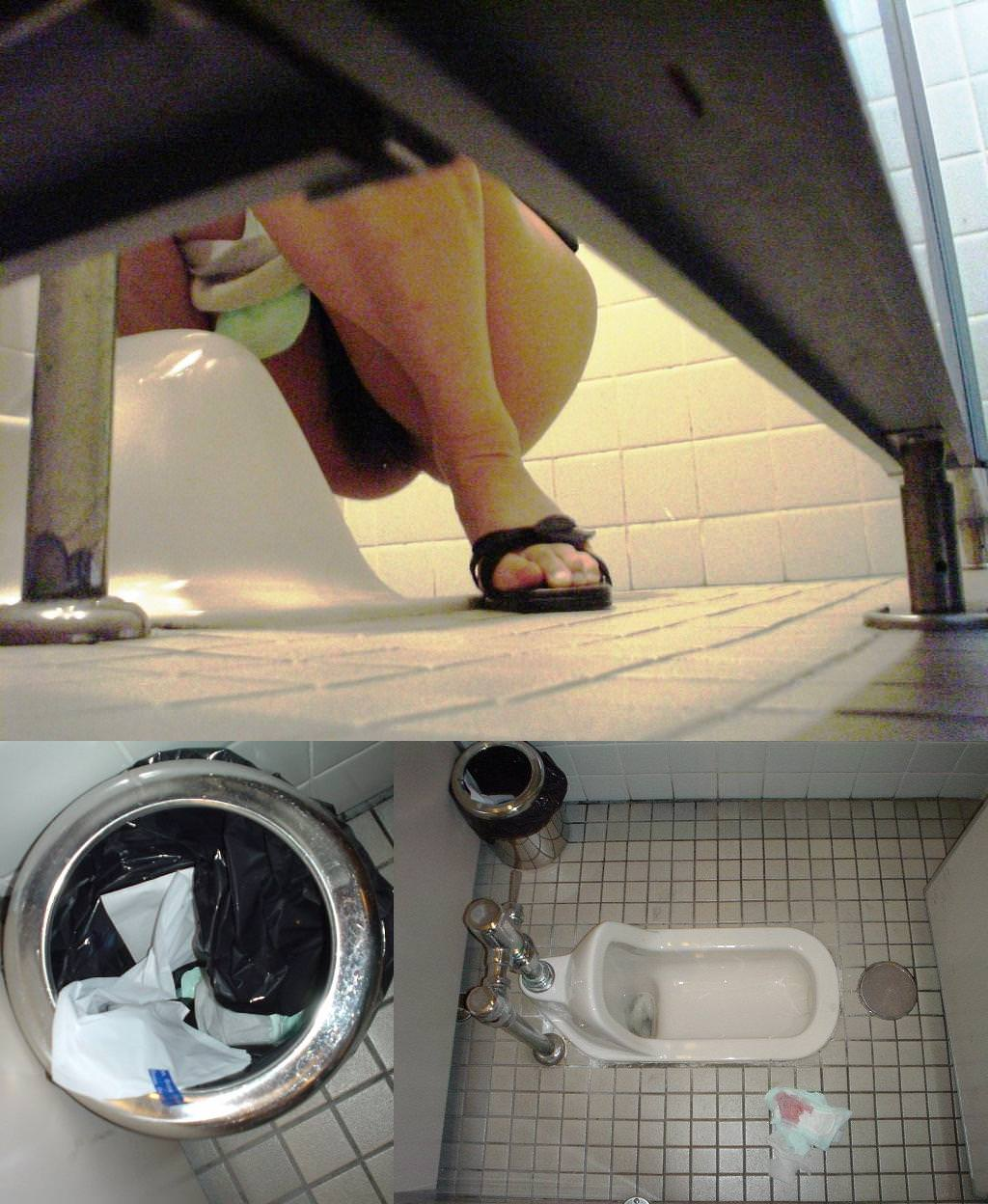 トイレでオシッコしてるお尻丸出し女性を隠し撮りwwwwwww 3086
