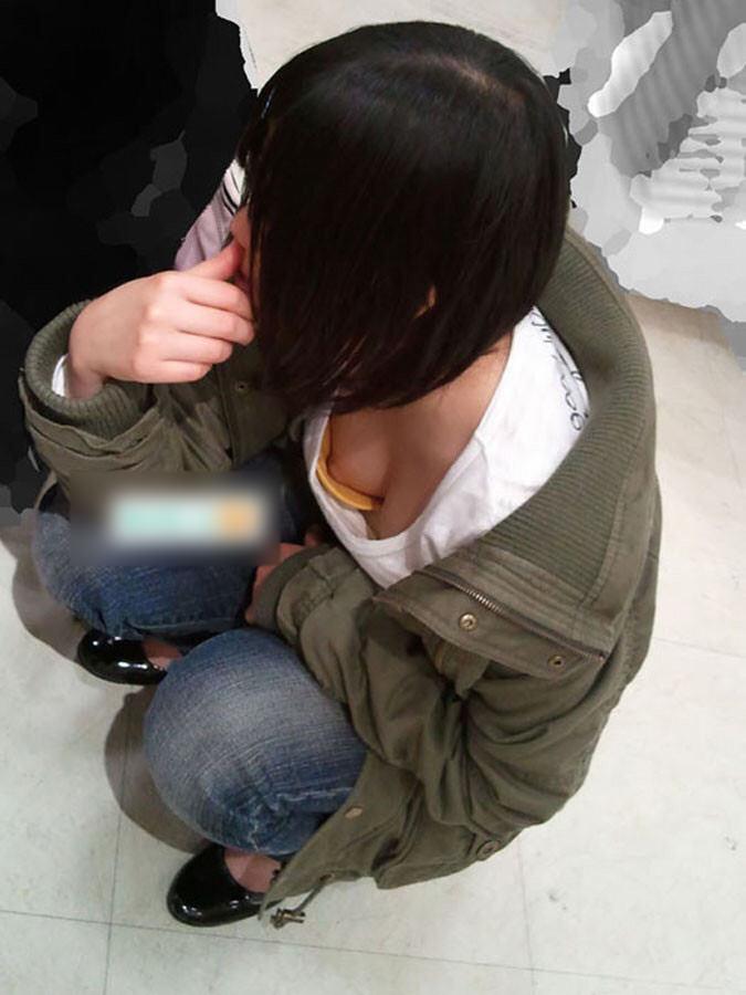 意外と見かける街中で横乳首見えてる素人女性!!!胸チラ街撮りゲットwwwww 1459