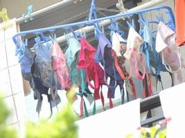 エッチな団地妻が洗濯済みの下着をベランダに大量に干してるぞぉーwwwwwwwww