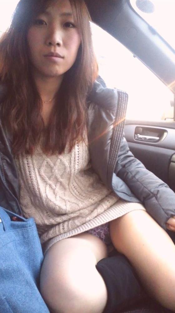 ドライブデート中車内で全裸になっちゃう彼女がエロすぎwwwwwwwwwwwwwwww 2117
