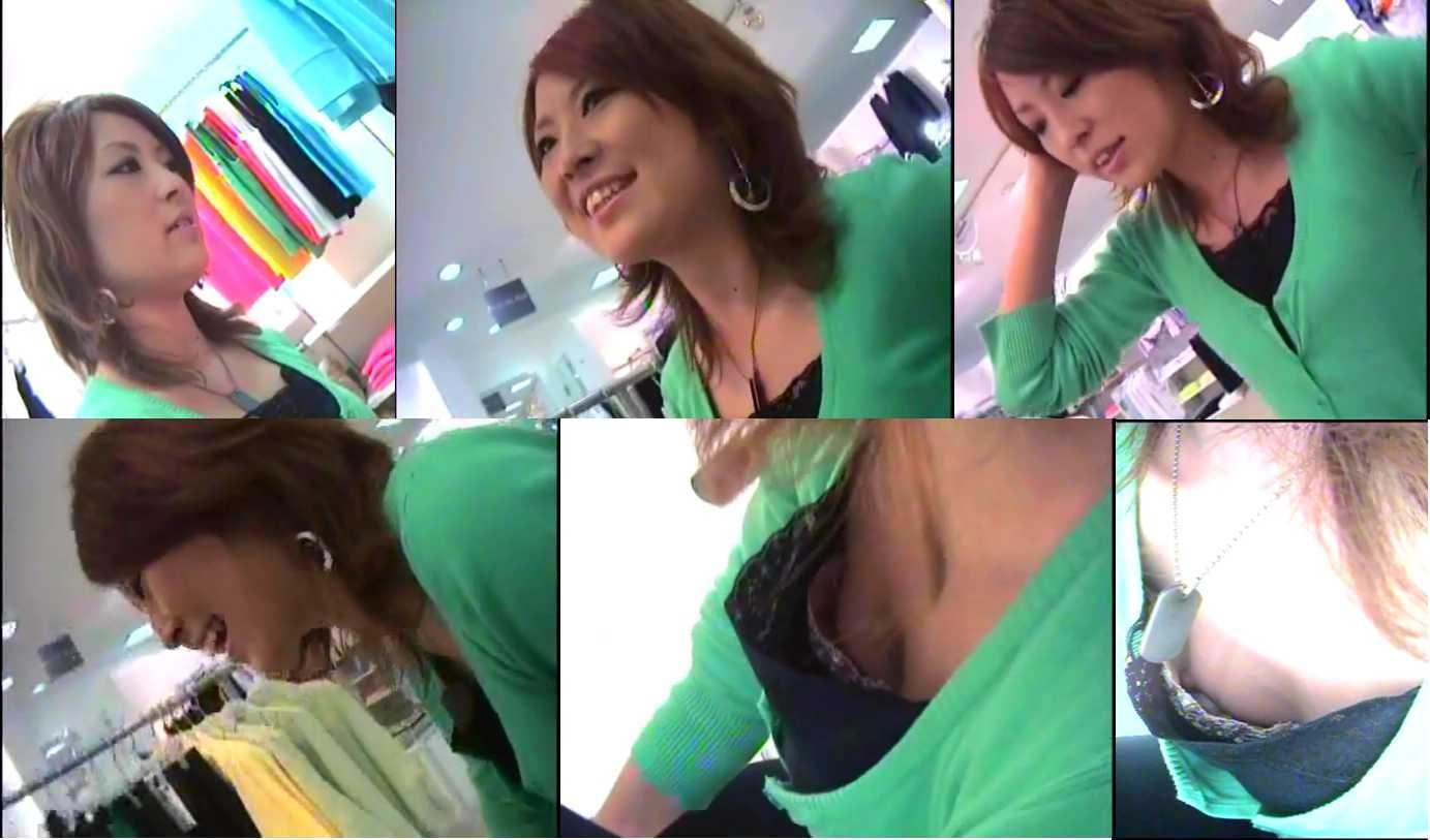 有名デパートで働く清楚なお姉さん店員の胸チラ盗撮だぁーwwwたまに乳首見えちゃってるチラリズムエロすぎーwww 2248