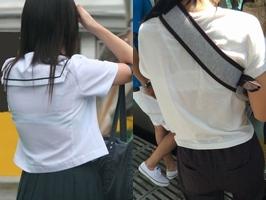 円光流出のロリ校生が制服から溢れるおっぱいがエロ過ぎな画像