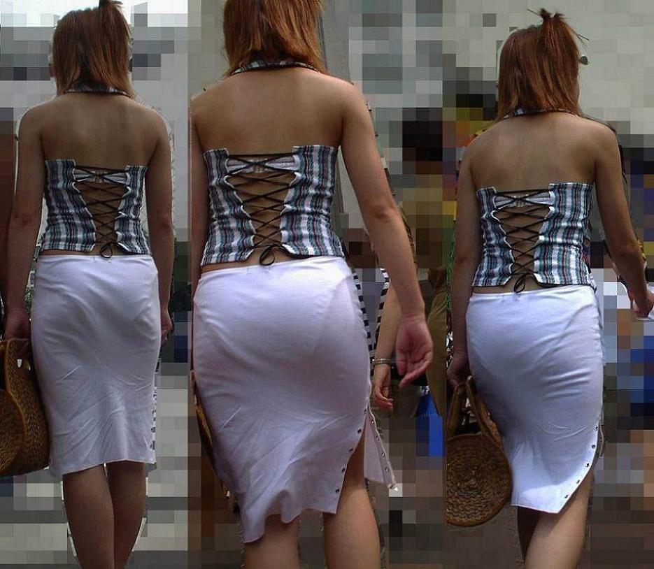 街で女のお尻を直視するのがワイの嗜み!高確率で透けパンツに出会えるぞぉーwww 1153