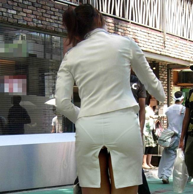 街で女のお尻を直視するのがワイの嗜み!高確率で透けパンツに出会えるぞぉーwww 1160