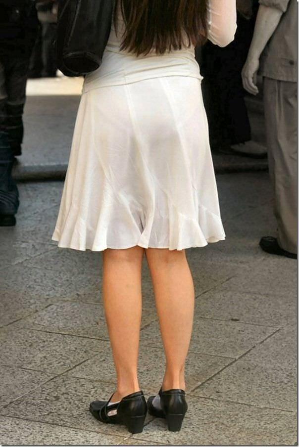 街で女のお尻を直視するのがワイの嗜み!高確率で透けパンツに出会えるぞぉーwww 1165
