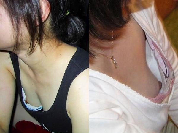 ブラが浮いて乳首丸見えな嫁のおっぱい画像だぁーwwwいつも胸チラしてるからこっそり撮影してますぅーwww 01 18