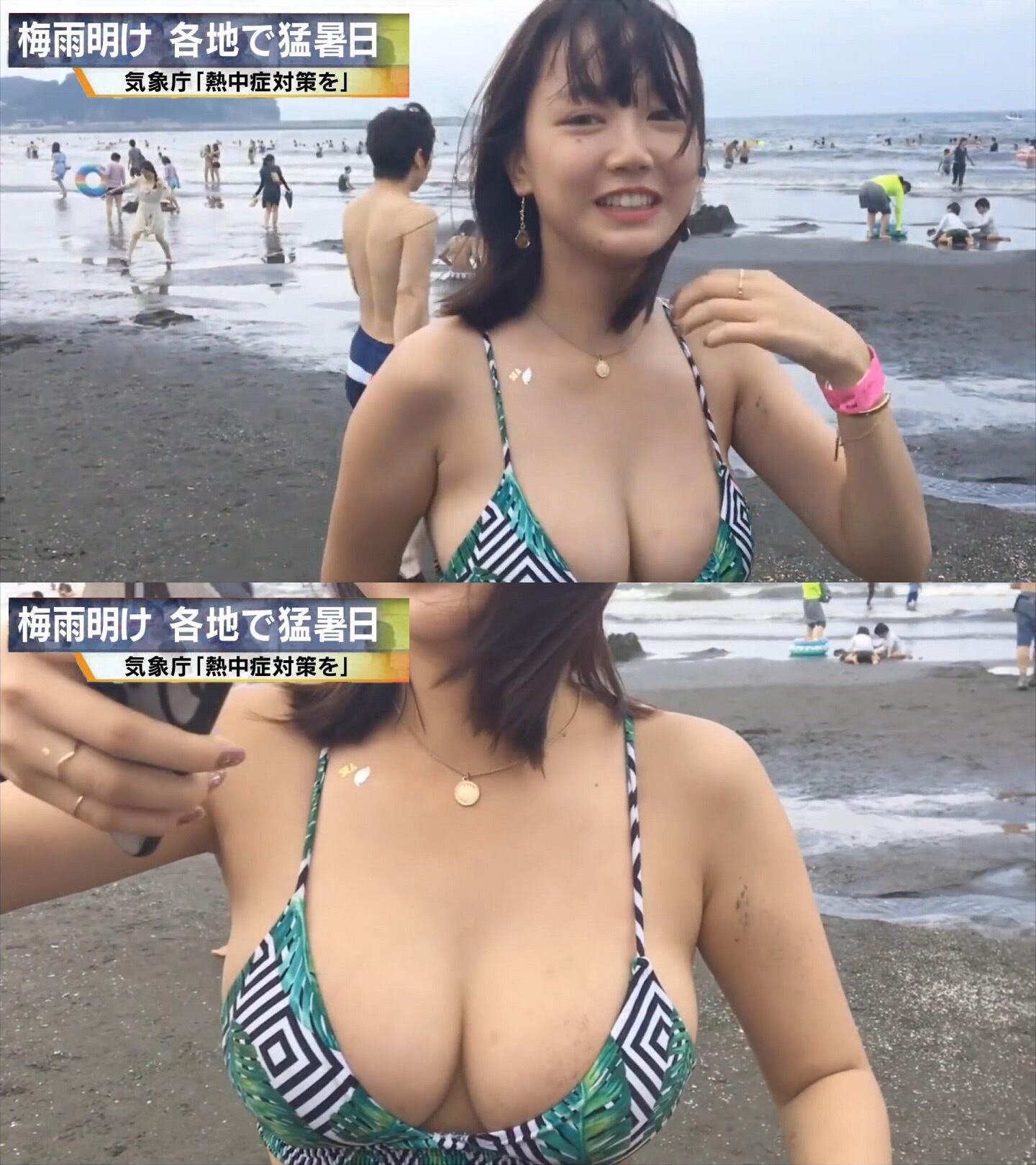 素人の女さん、爆乳おっぱいがご褒美としてテレビに写ってしまうwwwwwwwwww hOMana3