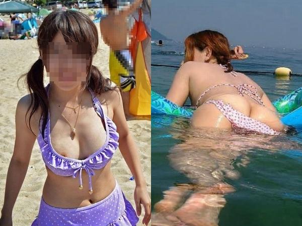 乳首とか性器が見えちゃってるのに全く気付いてない素人娘だぁーwww街撮りハプニング画像ってエロいよなぁーwww 01 20