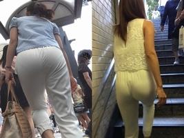 街行く女性はパンツスタイルのお尻のエロさを隠しきれてないぞぉーwwwパンティーすけすけだから拝み放題だぁーwww