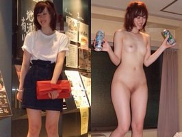 元カノの私服姿とエッチな裸体のエロ画像を比較してみました!!!