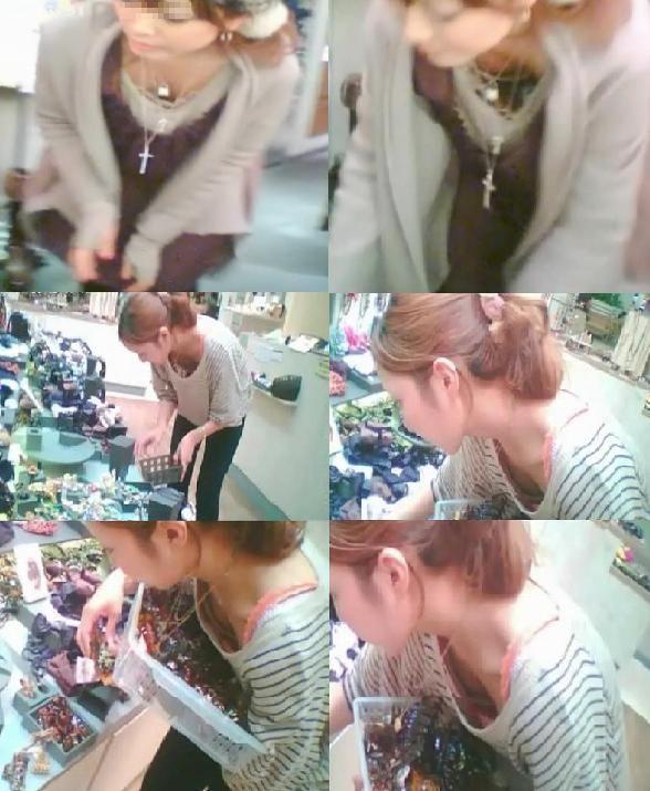 デパートで働くデパガ女子の胸チラ乳首画像 1134