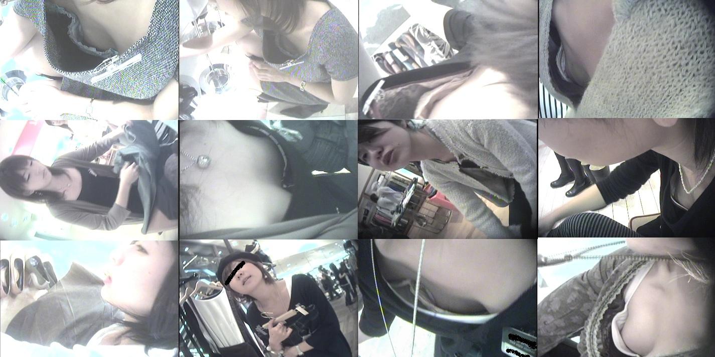 デパートで働くデパガ女子の胸チラ乳首画像 1138