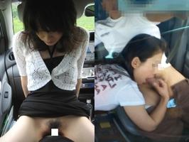 車乗ってるとムラムラするカップルが我慢できずにカーセックス!!!!!!