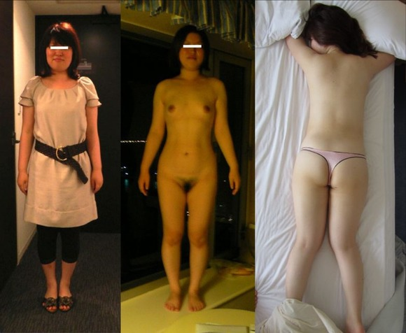 素人娘の私服姿とエッチしてる時の裸体の比較画像ってたまらんよなぁーwwwwwwww 1948