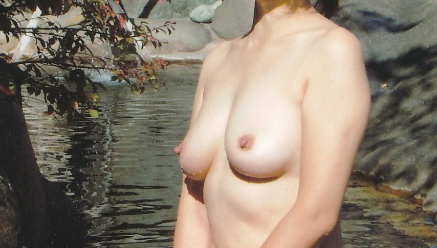 貸し切り露天風呂で彼女とエッチなことしてる素人エロ画像 1960
