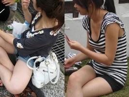 女友達の谷間がエロすぎたぁーwww胸チラおっぱい隠し撮りしたぞぉーwww