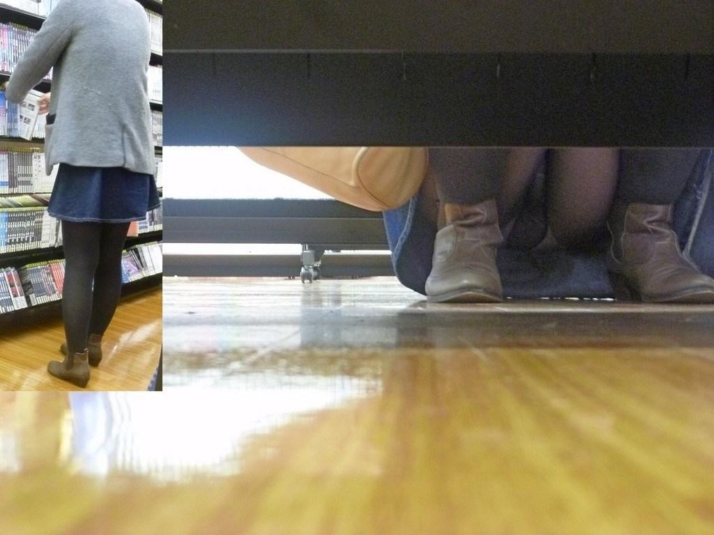 レンタルショップで女性客のパンツ撮影してるパンチラ画像 DLr1He