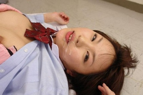 顔射されてお姉さんの顔面がベトベトな素人エロ画像 14b9d28e s