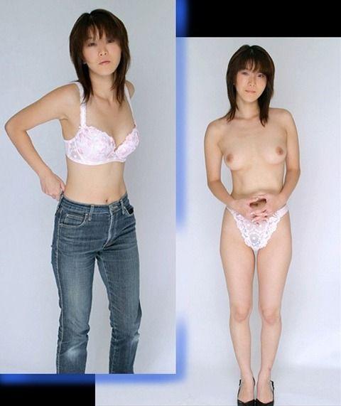 彼氏にしか見せたくない脱ぐ前脱いだ後がわかる素人娘のエロ画像 be988f6b